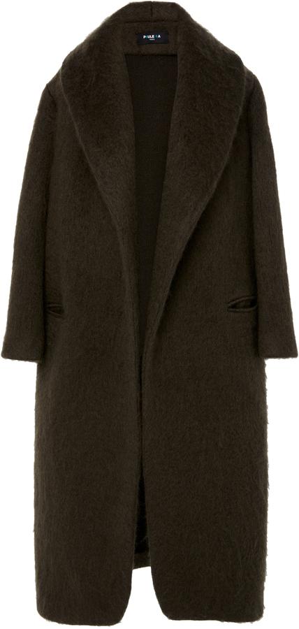 Paule KaPaule Ka Wool Mohair Coat with Self Belt