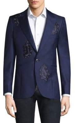 Paul Smith Paisley Button-Front Wool Jacket