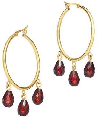 Bloomingdale's Garnet Briolette Hoop Earrings in 14K Yellow Gold - 100% Exclusive