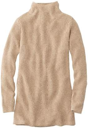 L.L. Bean Women's L.L.Bean Shaker-Stitch Sweater, Mockneck Tunic