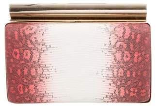 Devi Kroell Ring Lizard Bar Clutch