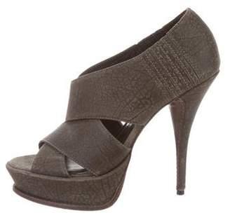 Elizabeth and James Leather Caged High-Heel Sandals