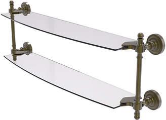 ALLIED BRASS Allied Brass Retro Dot Collection 24 IN Two TieredGlass Shelf