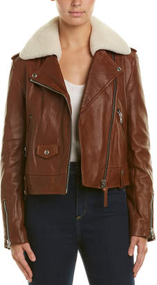 Mackage Leather Down Jacket