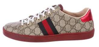 Gucci GG Web Low-Top Sneakers