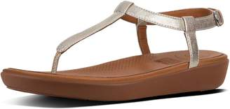 526387bea95472 FitFlop Silver Leather Women s Sandals - ShopStyle