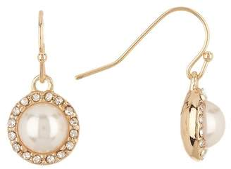 Nordstrom Rack Imitation Pearl Pave Surround Drop Earrings