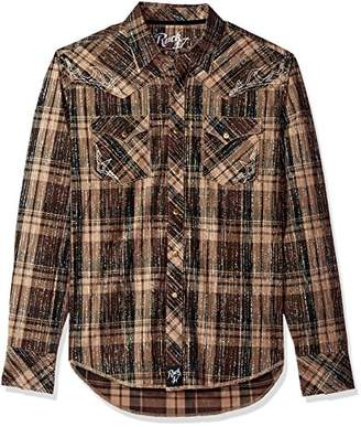 Wrangler Men's Rock 47 Two Pocket Long Sleeve Snap Shirt