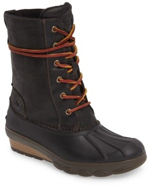 Women's Sperry Saltwater Wedge Reeve Waterproof Boot $139.95 thestylecure.com