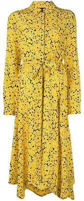 Cédric Charlier floral belted shirt dress