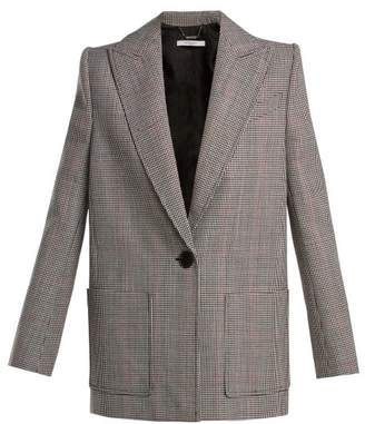 Givenchy Houndstooth Wool Jacket - Womens - Black Multi