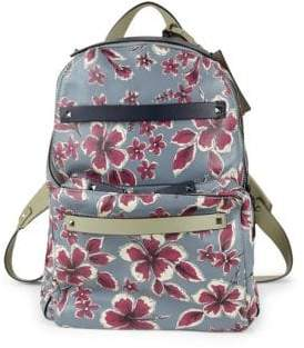 Valentino Floral Leather Backpack