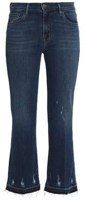 J Brand Distressed Mid-Rise Kick-Flare Jeans