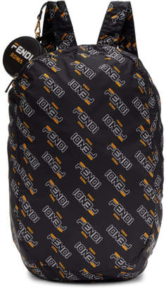 Fendi Black Mania Helpbag Backpack