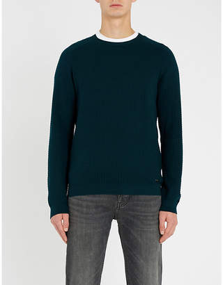 HUGO Relaxed-fit crewneck cotton jumper