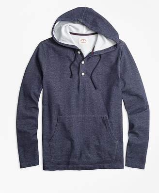 Jacquard Henley Hoodie $79.50 thestylecure.com
