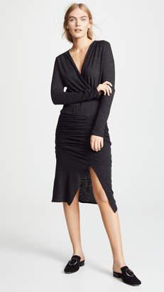 Lanston Ruched Midi Dress