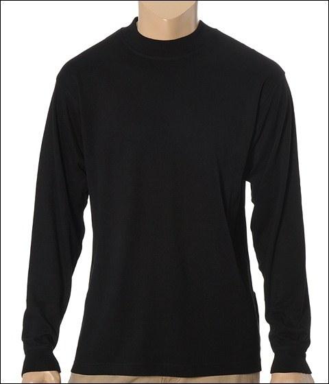 Cutter & Buck - L/S Luxury Mock (Black)