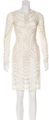 Herve Leger Embellished Liliana Bandage Dress White Embellished Liliana Bandage Dress