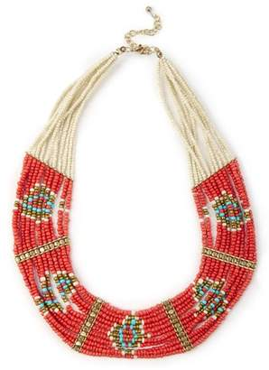 Sole Society Geo Beaded Necklace
