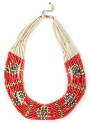 Sole Society Geo Beaded Necklace