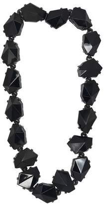 Kenneth Jay Lane Jet Diamond Shape Stone Necklace