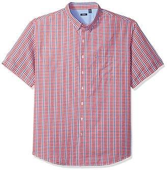 Izod Men's Breeze Plaid Short Sleeve Shirt (Big Tall Slim)