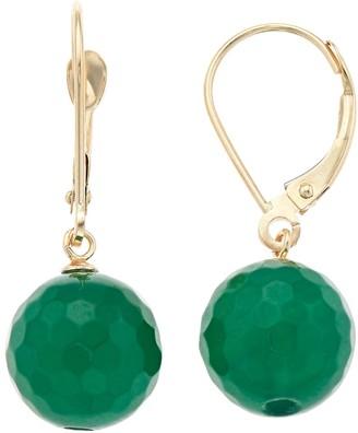 14k Gold Agate Drop Earrings