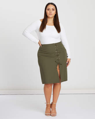 Justice Lace Up Skirt