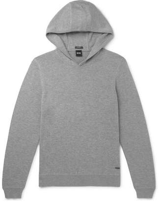 HUGO BOSS Wool, Cotton And Cashmere-blend Hoodie