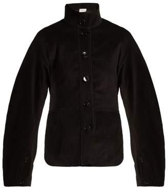 Lemaire - High Collar Cotton Corduroy Jacket - Womens - Black
