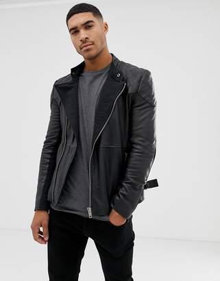 Bolongaro Trevor quilted leather biker jacket