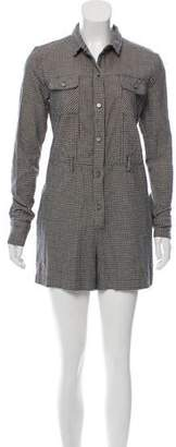 Opening Ceremony Houndstooth Button-Up Romper