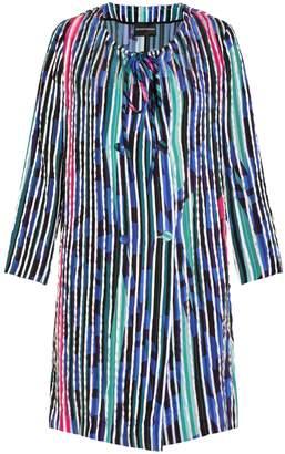 Emporio Armani Striped Trench Coat