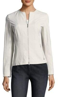 Lafayette 148 New York Courtney Zip-Front Jacket