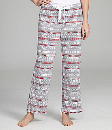 Sleep Sense Petites Fair Isle Drawstring Pants