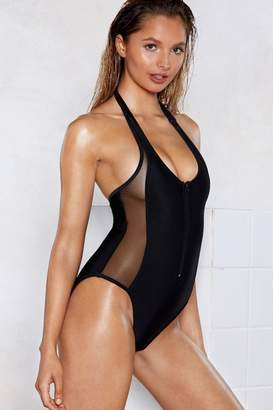 Nasty Gal Capri Zip Swimsuit