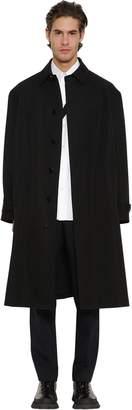 Jil Sander Straight Single Breast Wool Coat