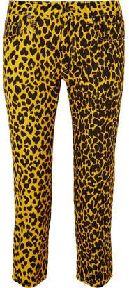 R 13 Joey Leopard-print Mid-rise Slim-leg Jeans