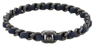 Chanel Leather Turn-lock Logo Bangle