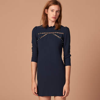 Sandro Straight dress with high neck