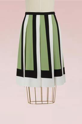 Valentino Colorblock Short Pleated skirt