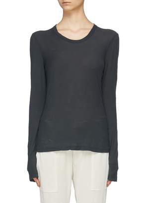 James Perse Garment dyed Supima® Cotton slub jersey long sleeve T-shirt