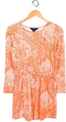 Ralph Lauren Girls' Embroidered Paisley Dress