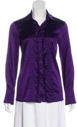 Trina Turk Long Sleeve Button-Up Top