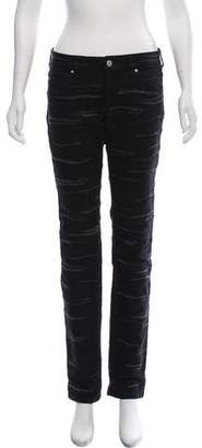 Isabel Marant Patterned Straight-Leg Jeans