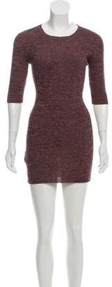 Prada Rib Knit Sweater Dress