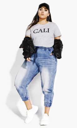 City Chic Citychic Cali Tee - charcoal