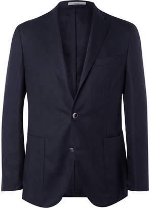 Boglioli Blue Slim-Fit Wool-Hopsack Blazer