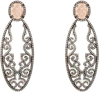 Jasmine Rose Latelita London Quartz Gemstone Earring Oxidised